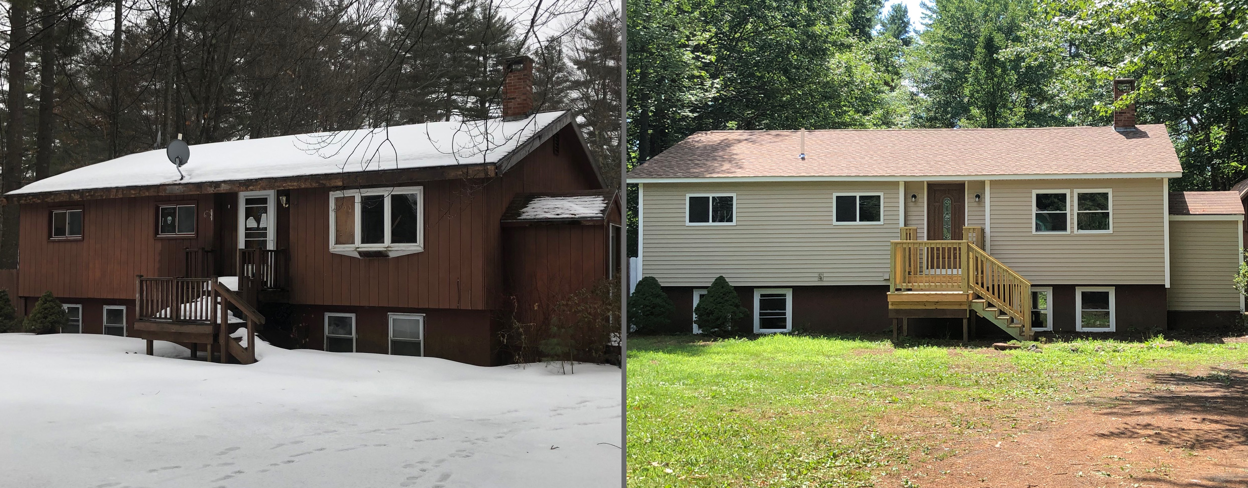 sweat equity -before/after home